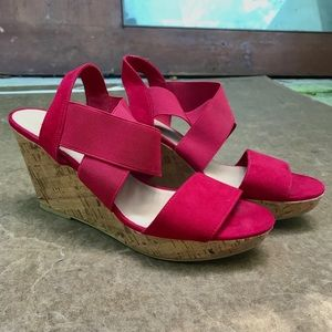 American Eagle Cherry Red Wedge Heels